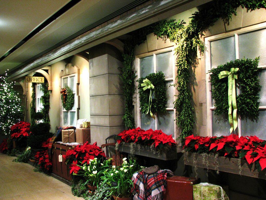 charming Christmas window boxes