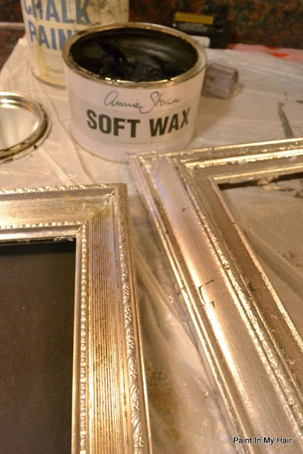 Paint In My Hair Tutorial Vintage Gilded Picture Frames