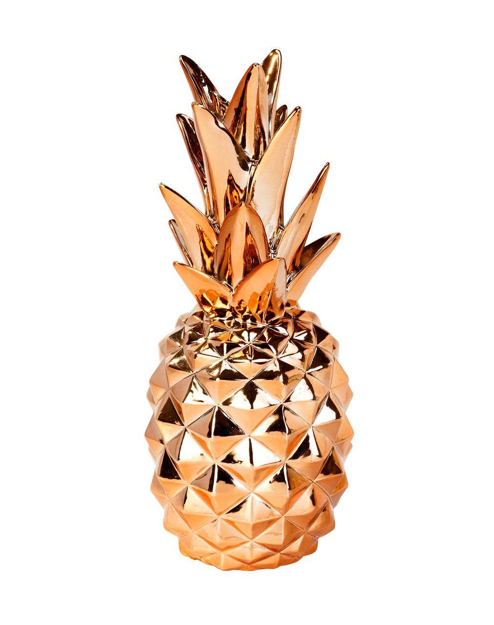 d coration ananas cuivre pineapple decoration. Black Bedroom Furniture Sets. Home Design Ideas