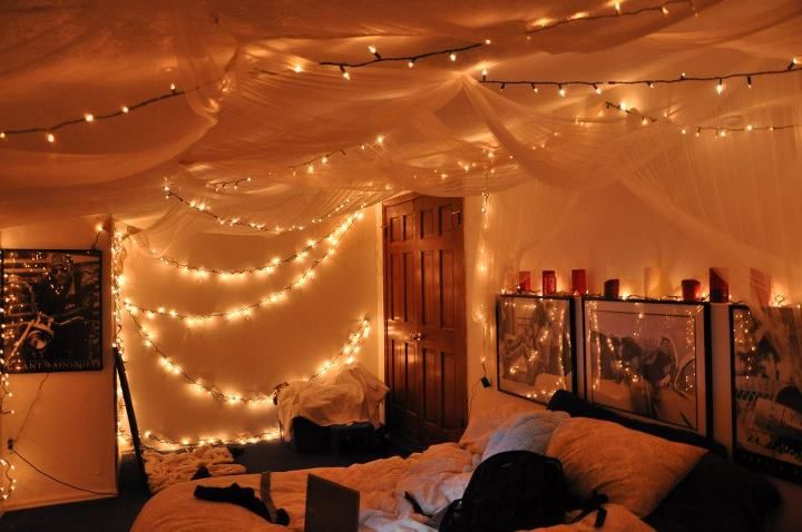 Fairy Lights Bedroom Tumblr On The Ceiling For Interesting