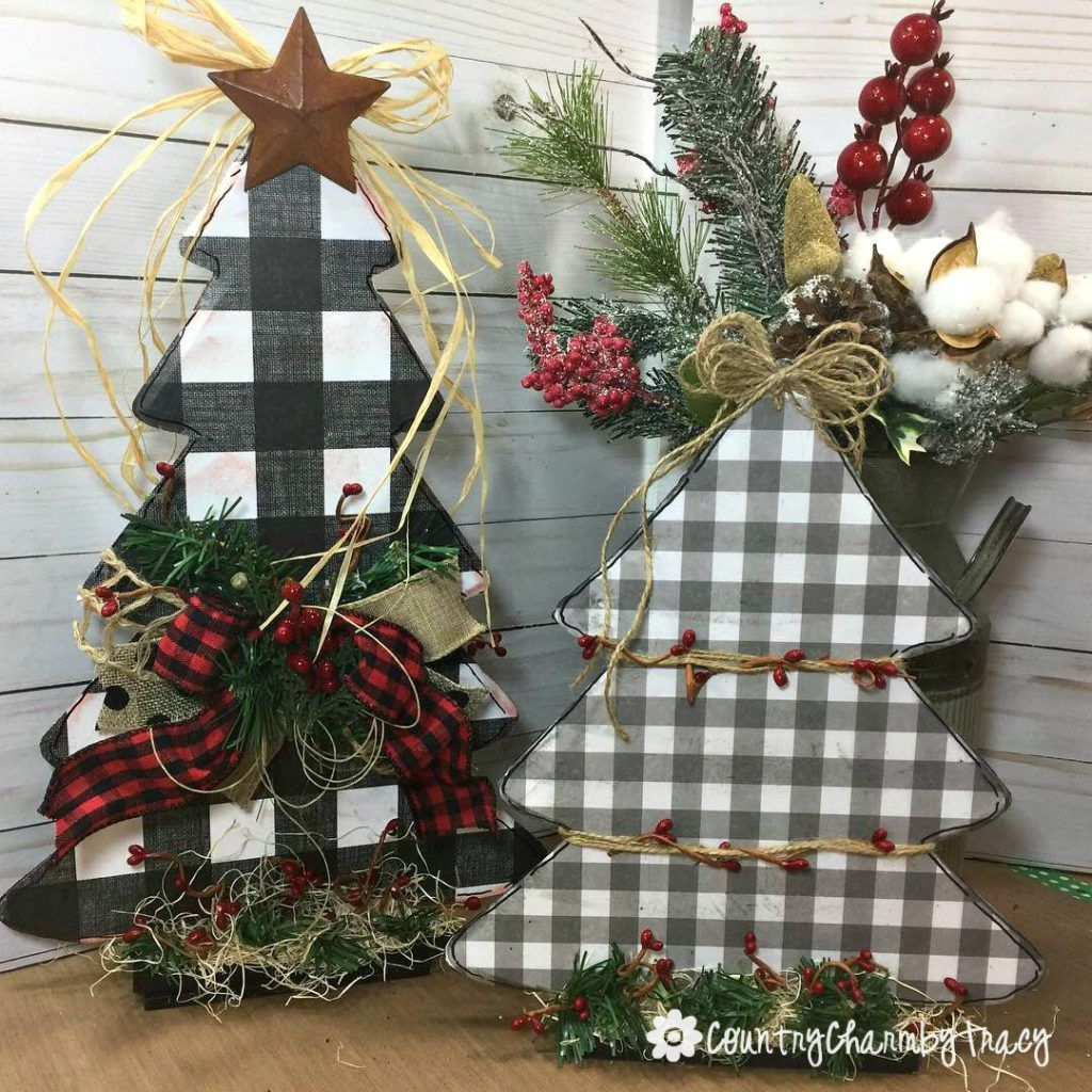 DIY Dollar Store Christmas Trees {Country Charm} by
