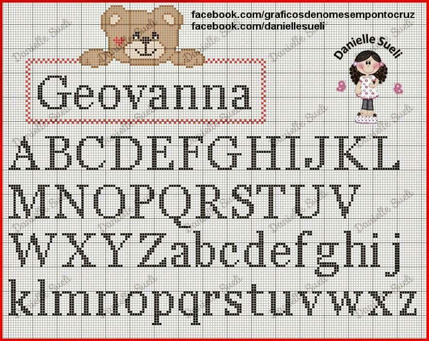 Pin de Bianca Batta en Puntos de cruz   Cross stitch alphabet, Cross ...