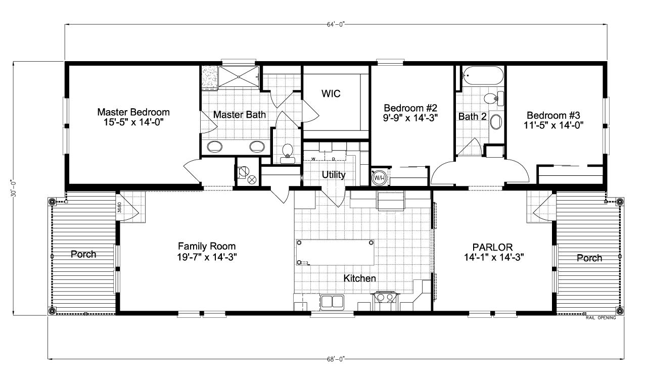 Floor Plan Riviera Ii Tl30683b Floor Plans Mobile Home Floor Plans Manufactured Homes Floor Plans