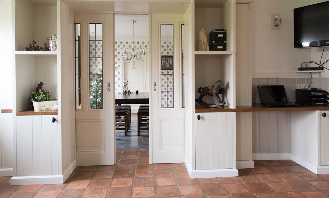 Afbeeldingsresultaat voor kastenwand tussen keuken en - Keuken en woonkamer in dezelfde kamer ...