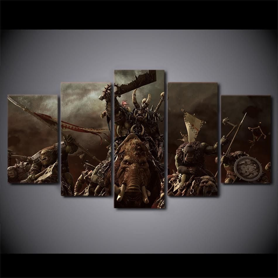New Arrivals 10 Discount Use Coupon Code 082 030 550 To Avail Warhammer Multi Panel Wall Canvas Wall Canvas Canvas Wall Art