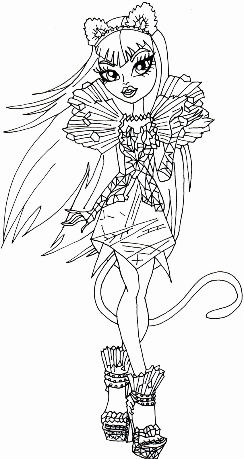 Monster High Coloring Pages Printable Luxury Free Printable Monster High Coloring Pages Catty Noir B Monster Coloring Pages Coloring Pages Horse Coloring Pages
