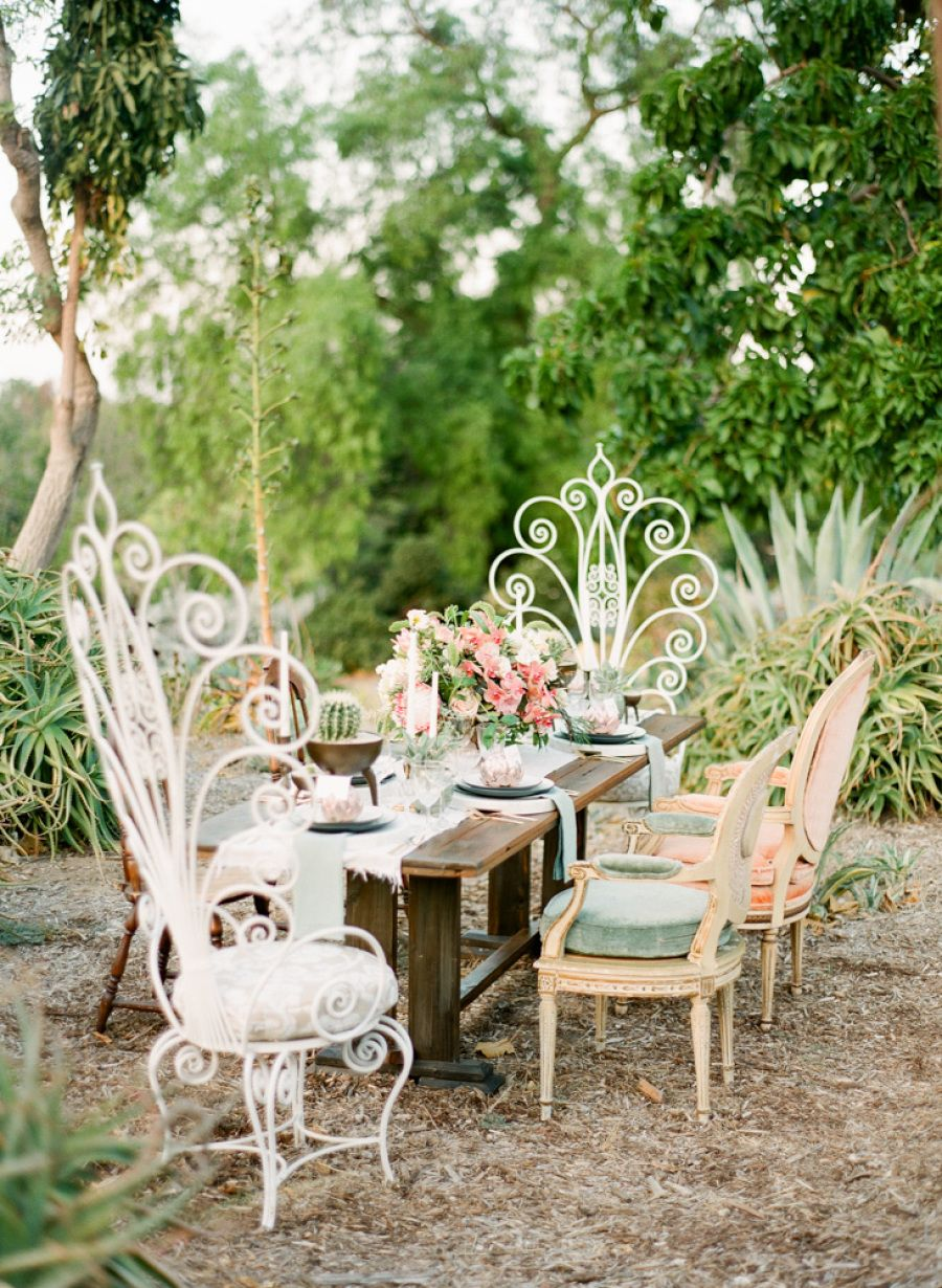 That Time The Desert Became Chic + Stylish Wedding table