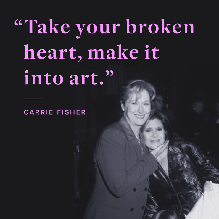 Carrie Fisher Art Creativity Kändisar