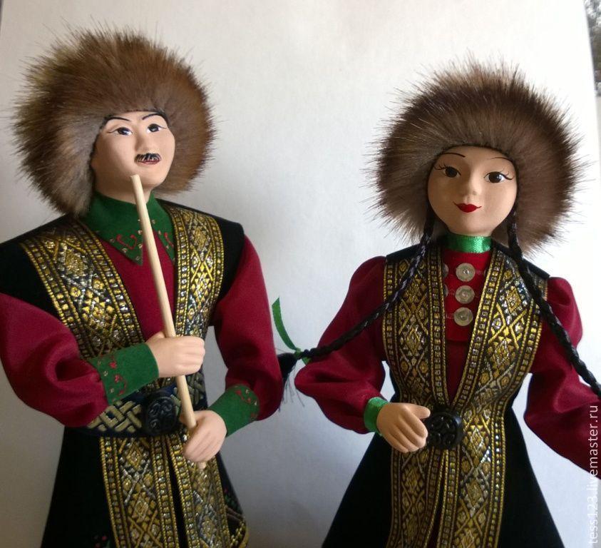 Купить Куклы в башкирском национальном костюме - Молодая ...