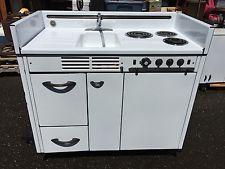 Dwyer Vintage Kitchen Kitchenette Stove Sink Refrigerator Cabinet