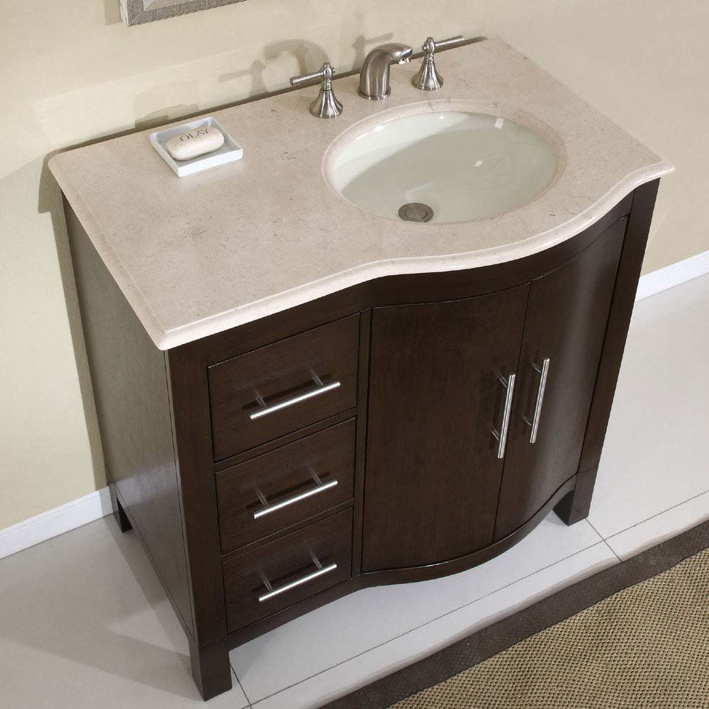 Bathroom Simple Sink Ideas Wh Whe Grane and Wooden Cabinet