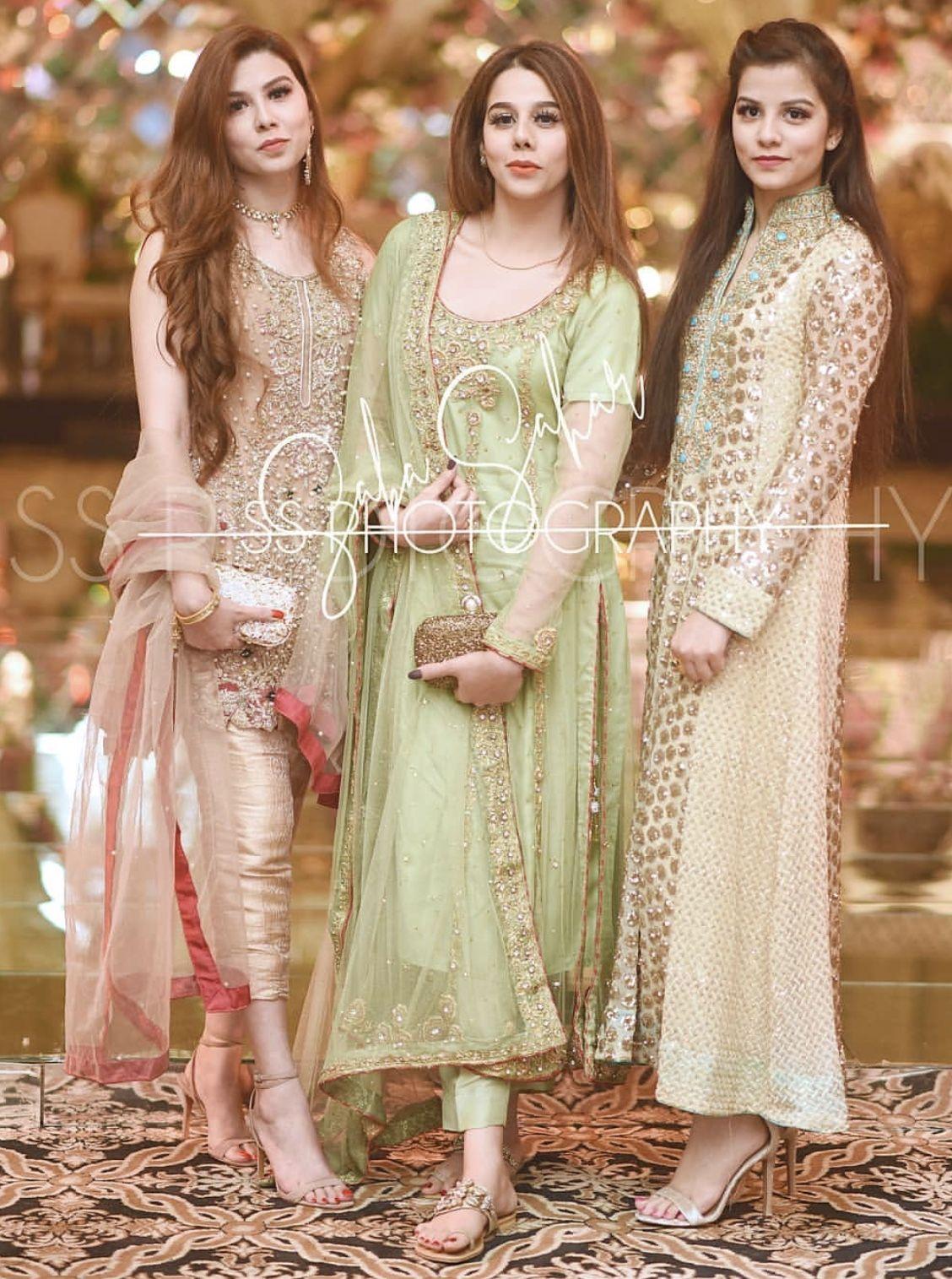 Brides side Mehndi dresses