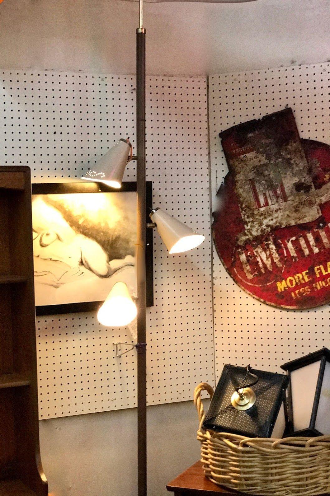 Vintage Tension Pole Floor Lamp $75 Mid Century Dallas Booth 766 Lula B's 1010 N. Riverfront Blvd. Dallas, TX 75207