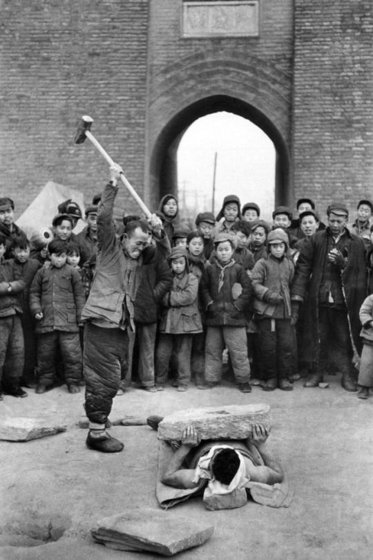 Street Show Beijing, China, 1957 Marc Riboud (French, b. 1923) Vintage print 20.4 x 29.9 cm