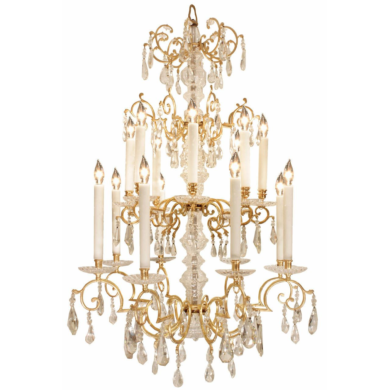 French th century louis xvi style baccarat and rock crystal