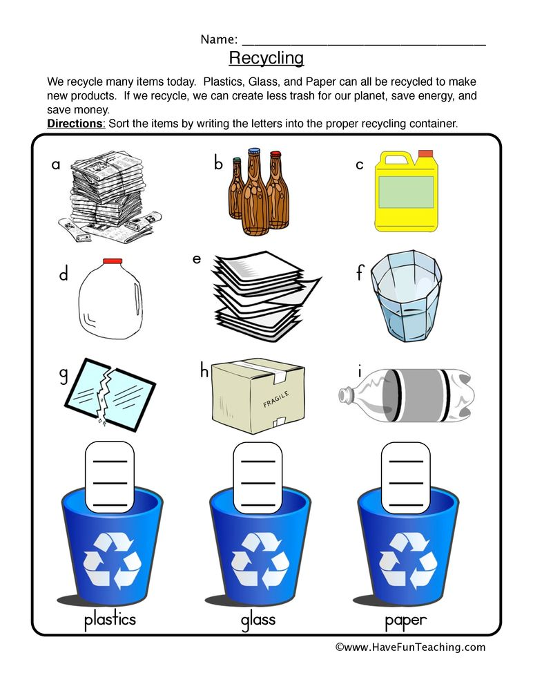 Pin On Science - 36+ Recycling Sorting Worksheets For Kindergarten Background