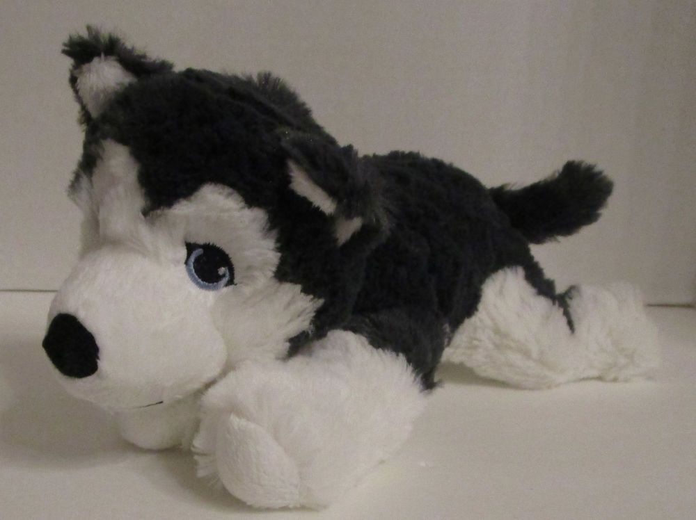 New Ikea Siberian Husky Livlig Plush 10 Soft Toy Gray Dog Stuffed