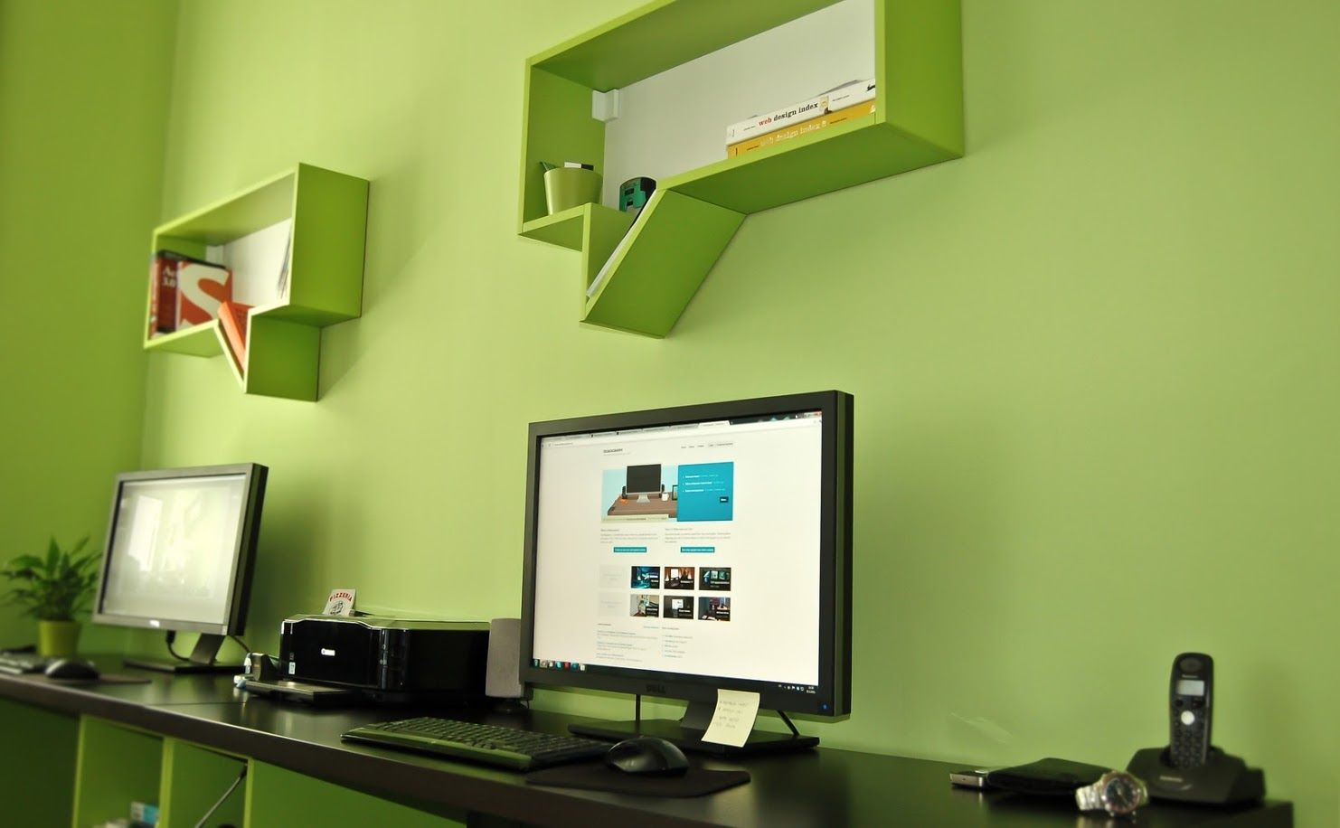 These clever speech bubble shelves by Kreativa Studio.  http://dribbble.com/shots/1016291-Office