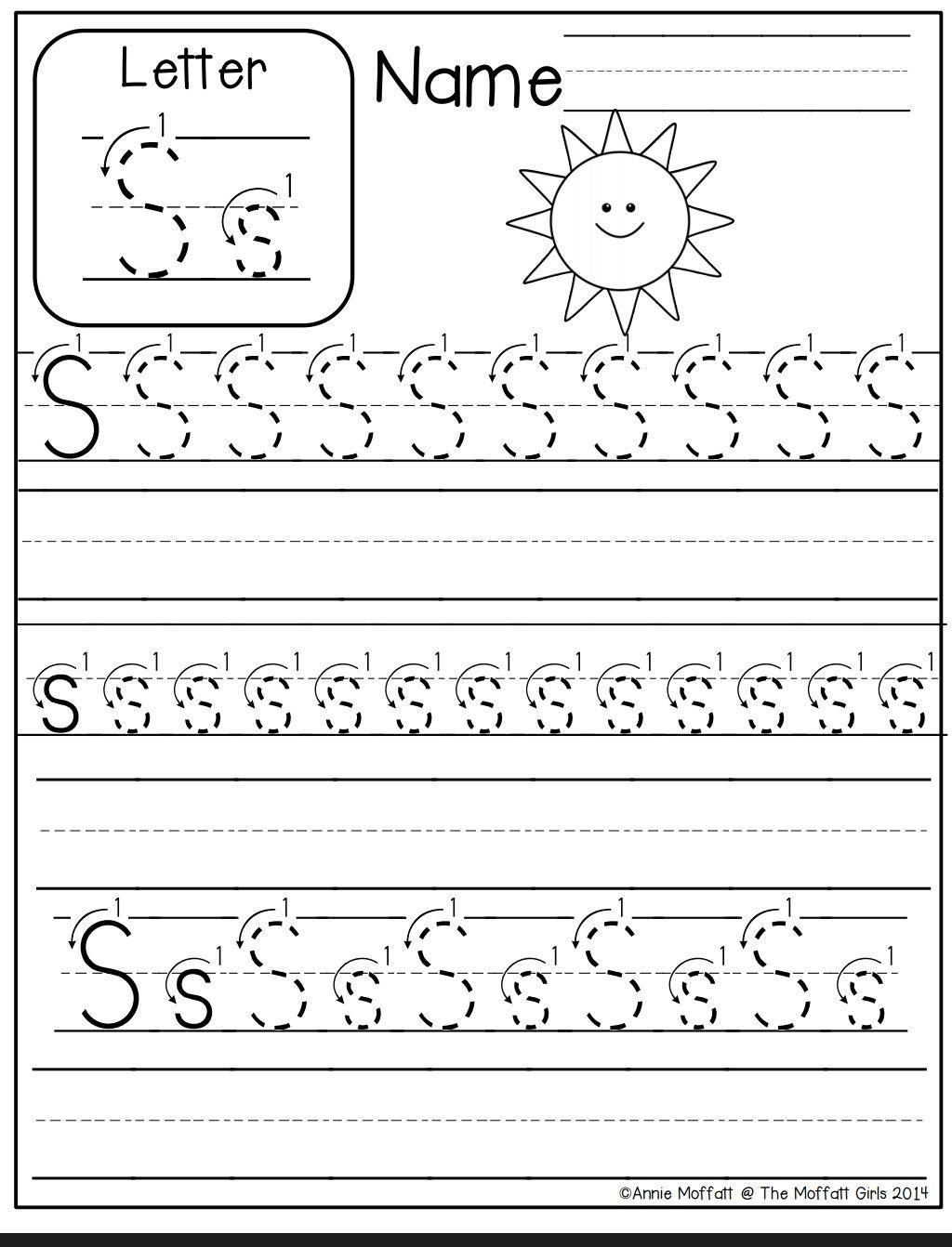 Letter S Worksheet Alphabet Worksheets Preschool Writing Worksheets Kindergarten Kindergarten Worksheets Printable