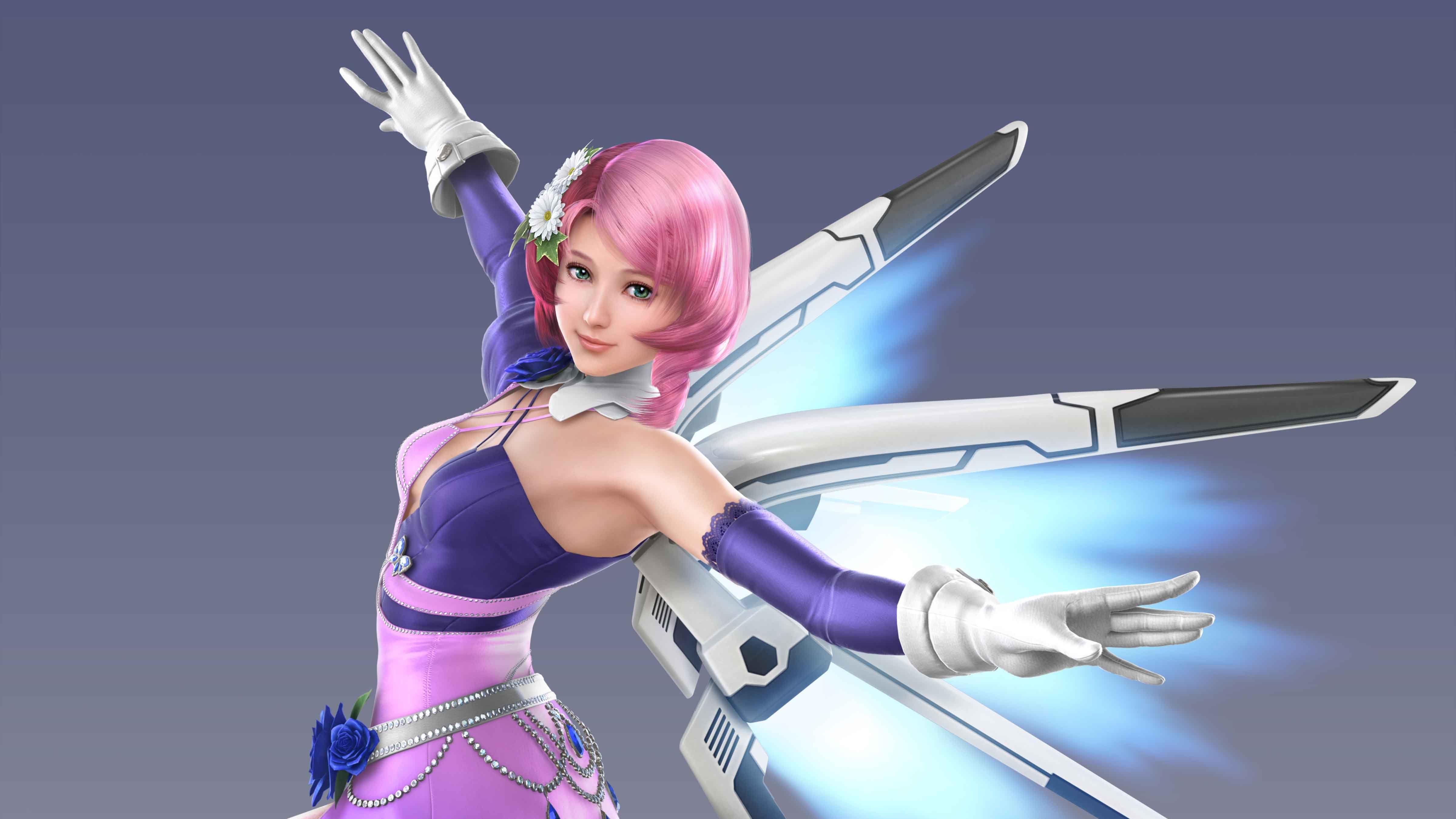 Pink Haired Female Anime Character Digital Wallpaper Alisa
