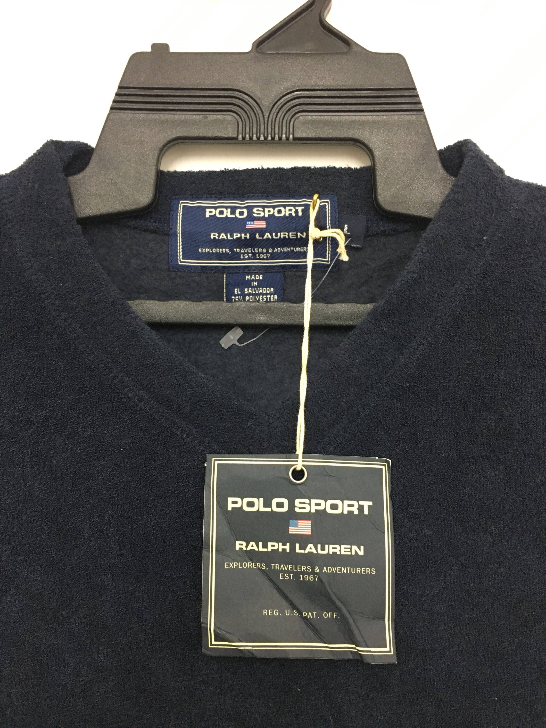 185d40b3a9982 Excited to share this item from my  etsy shop  Rare!! Deadstock With Tag Vintage  POLO SPORT Ralph Lauren Sweatshirt Plain Navy Blue Large Size on tag