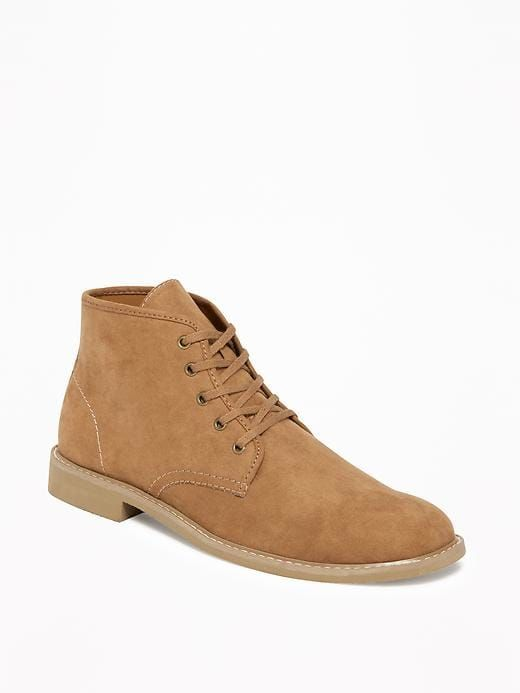 cc815516f Sueded Lace-Up Chukkas for Men