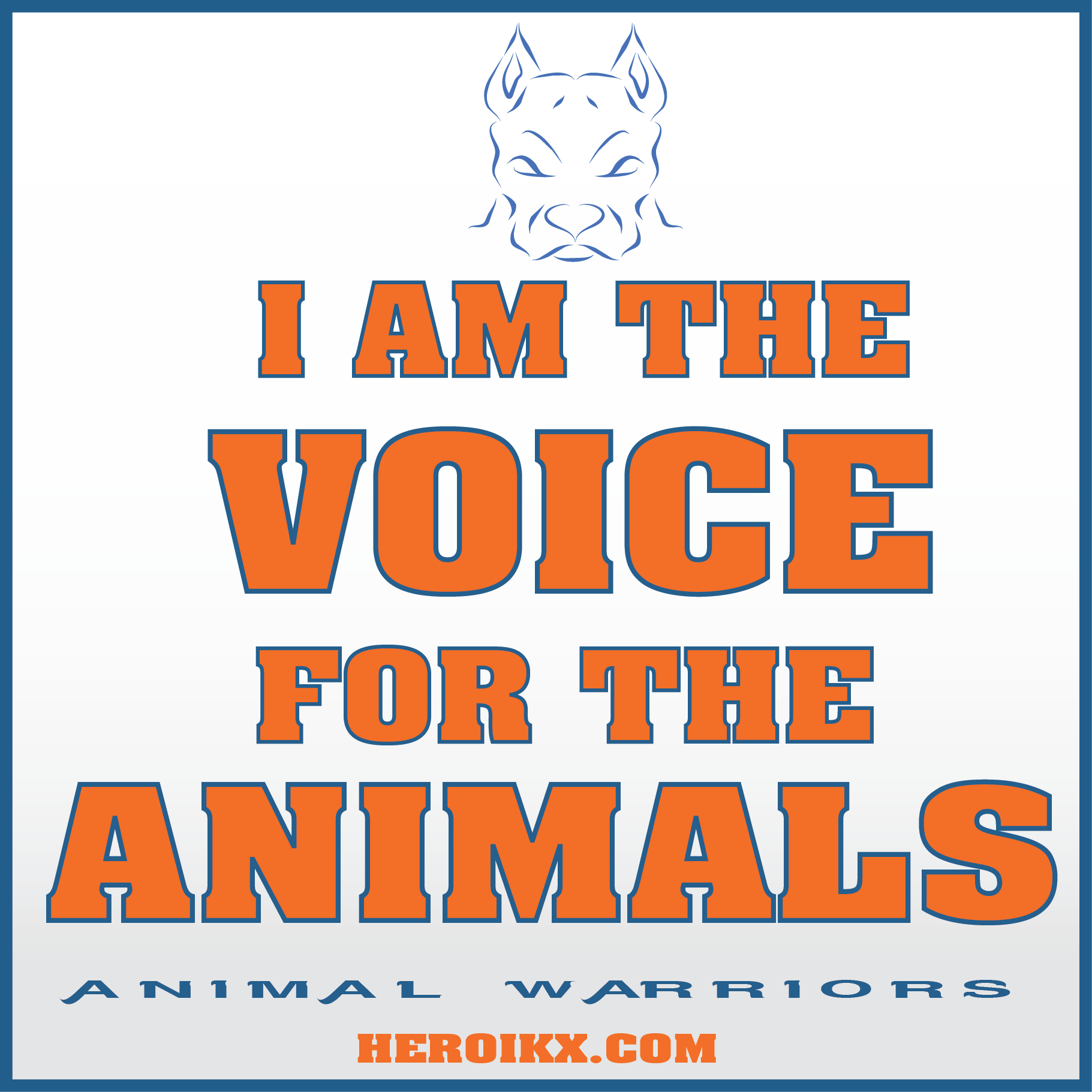 I Am The Voice For The Animals Animal Advocacy Awareness