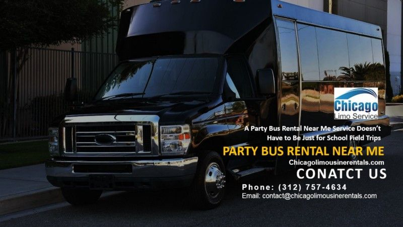 A party bus rental near me service doesnt have to be just