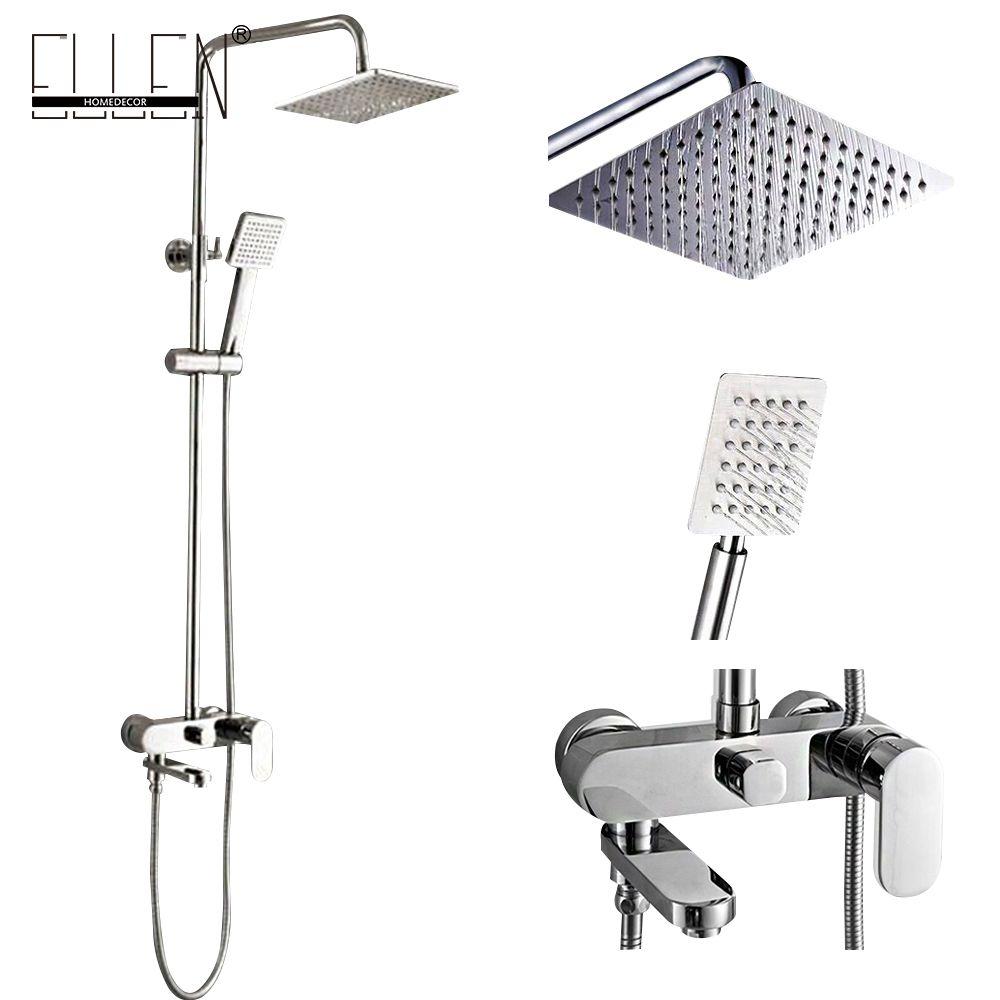 Bathroom Shower Set 8 10 12 Inch Rain Shower Head Bath Shower Mixer With Hand Shower [ 1000 x 1000 Pixel ]