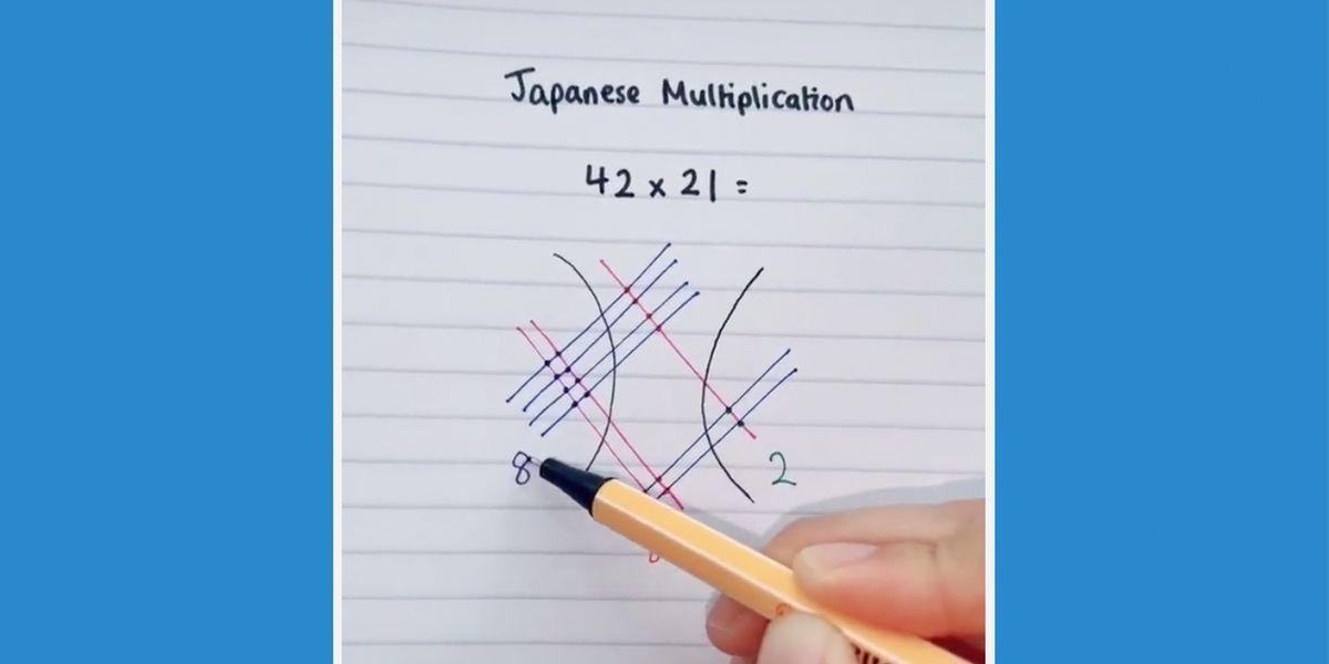 You Have To Try It A Tiktok Video Of A Novel Ancient Multiplication Method Has Gone Viral While The User Jesslouisec Cal In 2021 Japanese Multiplying Math Literacy