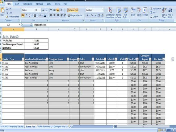 Consignment Tracking for Stores- Inventory Tracking, Consignment