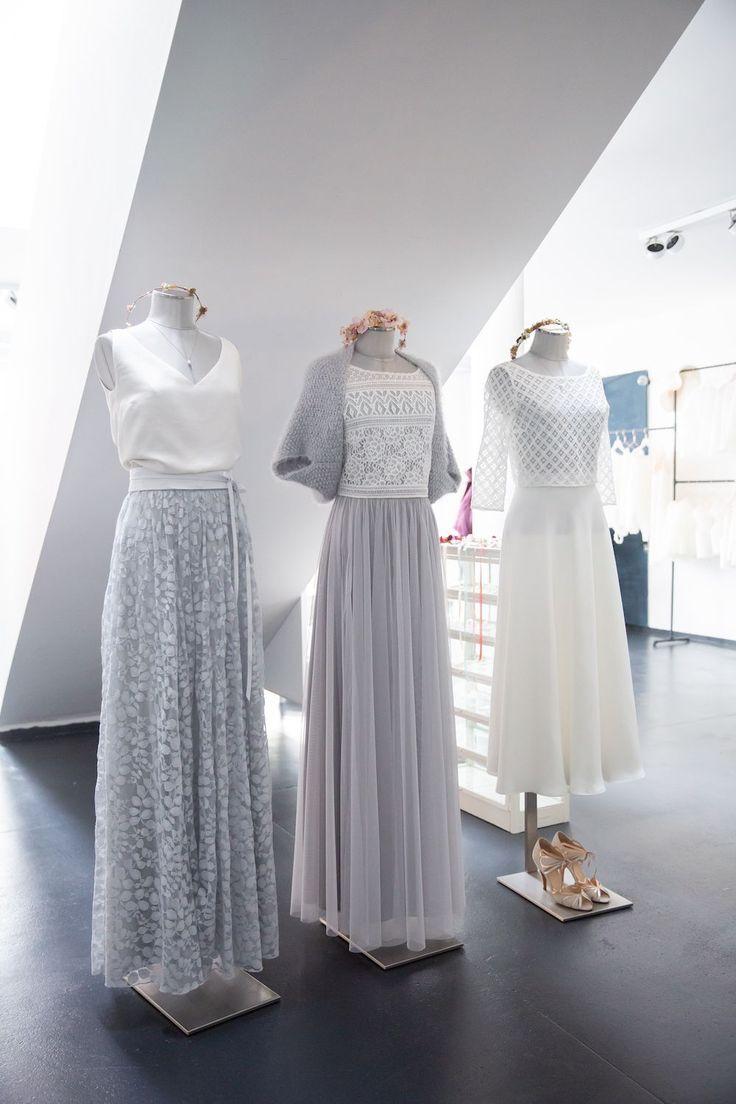 Moderne Boho Brautkleider mit Spitze und Tuellrock ...