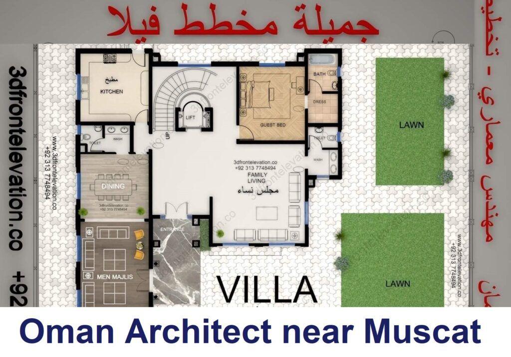 Saudi Villa Floor Plans Villa Plan Architectural House Plans House Layout Plans