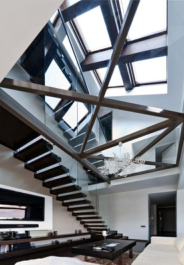 innovative gestaltung treppen in drei ebenen Stairways - holz treppe design atmos studio