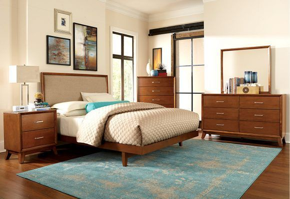 Bedroom Romantic Mid Century Modern Bed Frame For Home Decoration