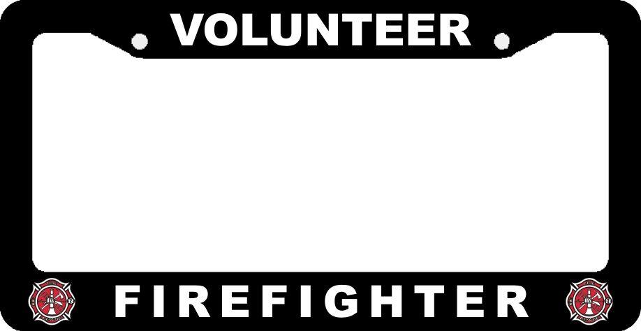 Volunteer Firefighter License Plate Frames | License Plate Frames ...