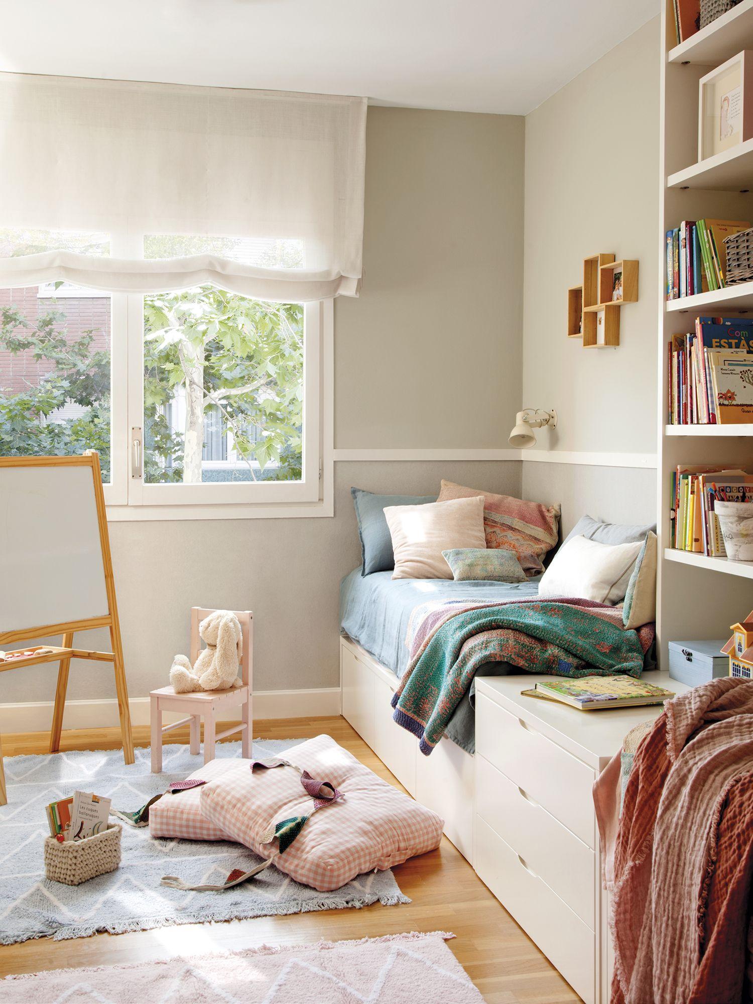 Cabecero de cama hecho con arrimadero | Pinterest | Habitación ...
