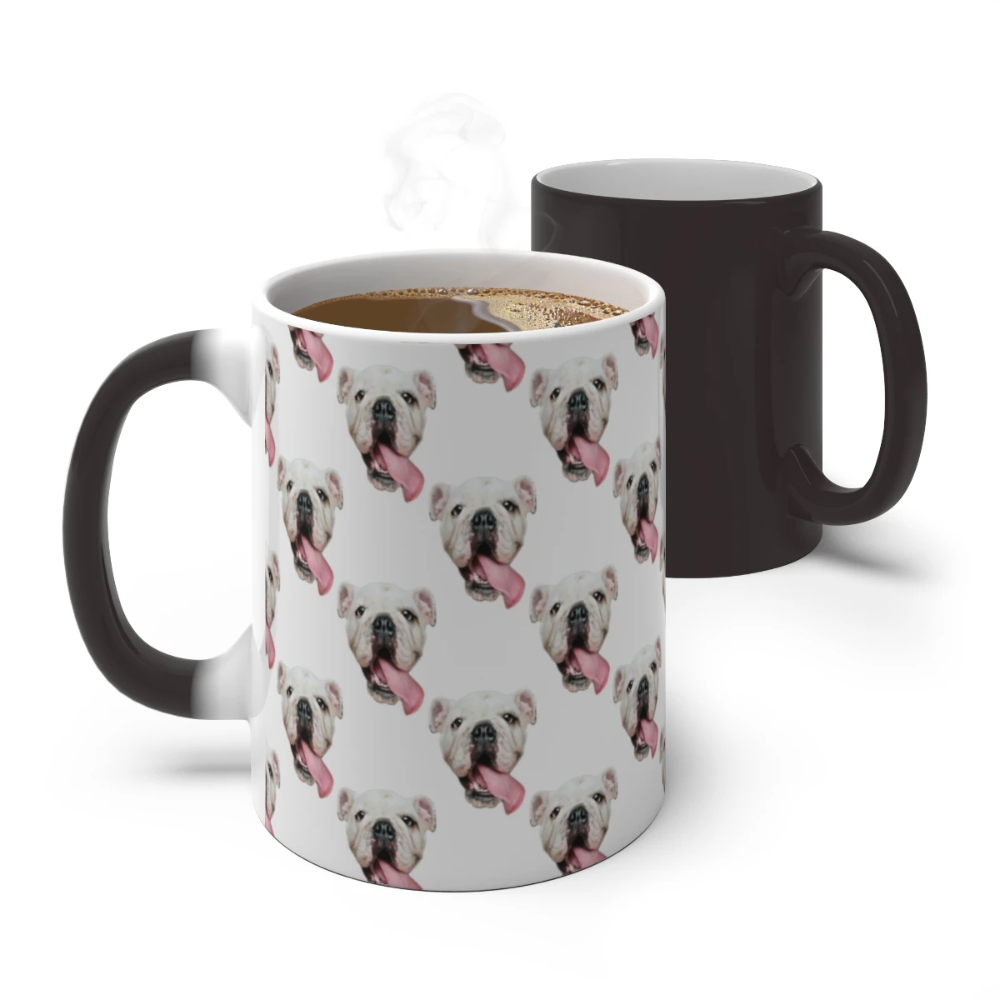 Color Changing Mug, Custom Photo Pattern Magic Mug, Heat