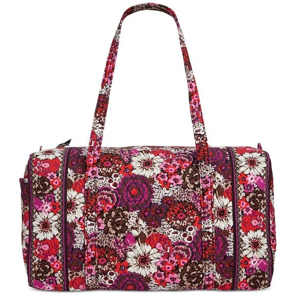 Vera Bradley Large Duffle Bag (4,785 MKD) ❤ liked on Polyvore featuring bags, luggage and rosewood