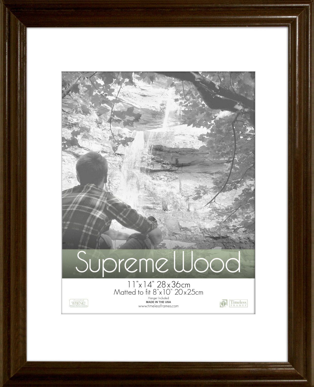 Amazon Com Timeless Frames 11x14 Inch Fits 8x10 Inch Photo Supreme Solid Wood Wall Frame Espresso Singl Picture On Wood Wood Picture Frames Frames On Wall