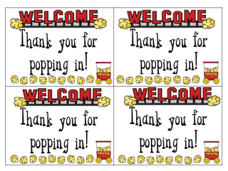 Thanks For Popping In Is A Really Good Idea For Open House Or Meet The  Teacher