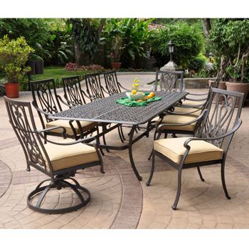 Saratoga 11 Piece Patio Dining Collection Outdoor Patio Furniture Outdoor Furniture Sets Patio 11 piece patio dining set