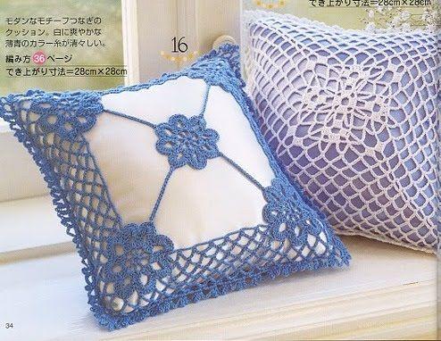 TRICO y CROCHET-madona-mía: Almohadones/ cojines de crochet con ...