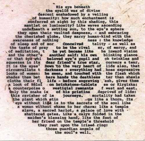 One Line Ascii Art Eyes : Wolfgang wackernagel gilgamesh s irisglance published in