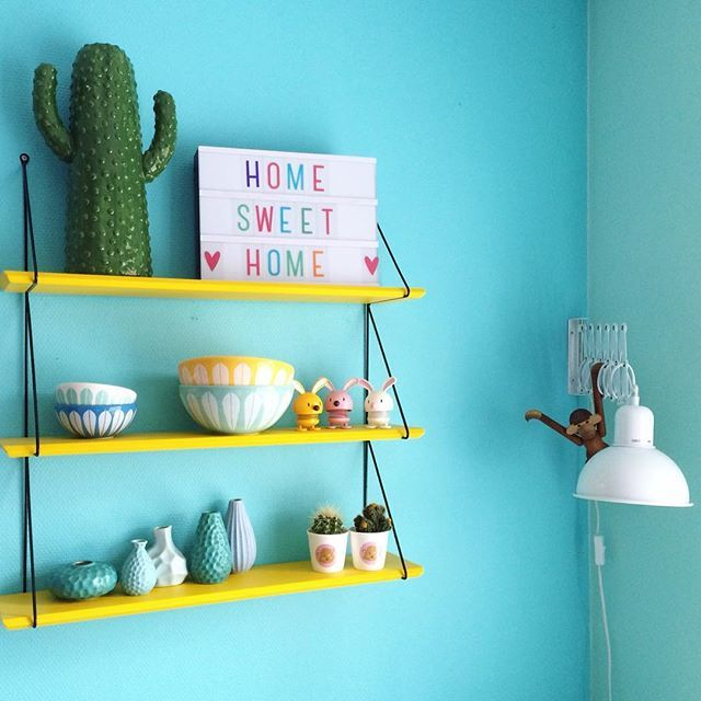 Türkis ist die Wand! #KOLORAT #Wandfarbe #Türkis Wandfarben - wohnzimmer deko in turkis