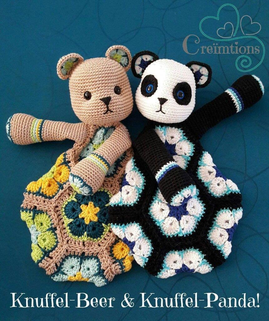 Beide te maken met het patroon van Knuffel-Panda
