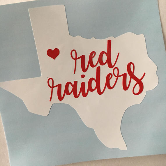 Texas tech sticker red raiders vinyl tech decal wreck