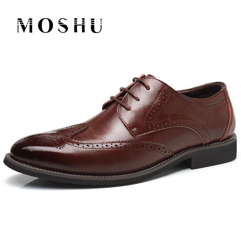 Men Flats Genuine Leather Dress Dress Dress Zapatos Brogue Oxford Lace Up Summer bf04d2
