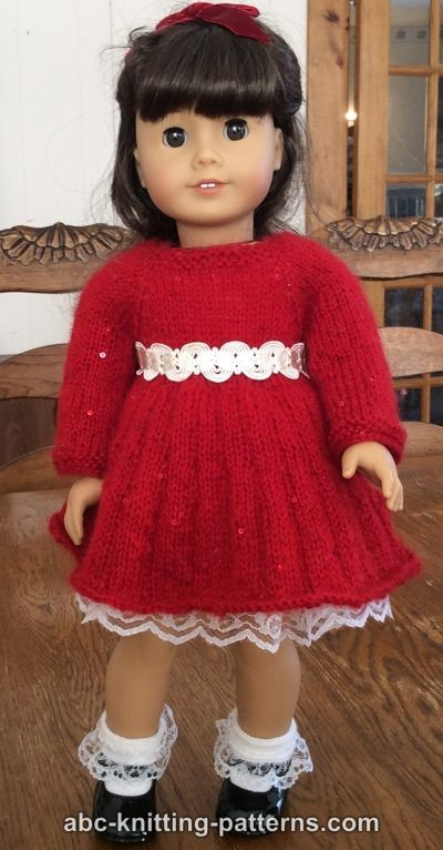 Free Doll Dress Knitting Pattern | Crochet / knit FREE AG patterns ...