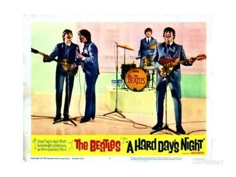 A Hard Days Night, Paul Mccartney, George Harrison, Ringo Starr, John Lennon, 1964 ジクレープリント
